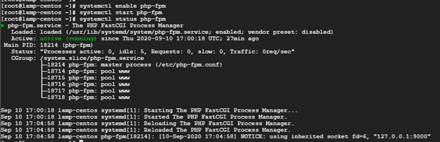 enable-start-php-fpm-service
