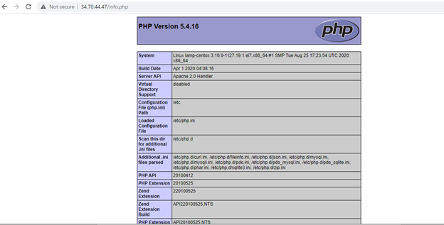 php-default-page-centos-apache