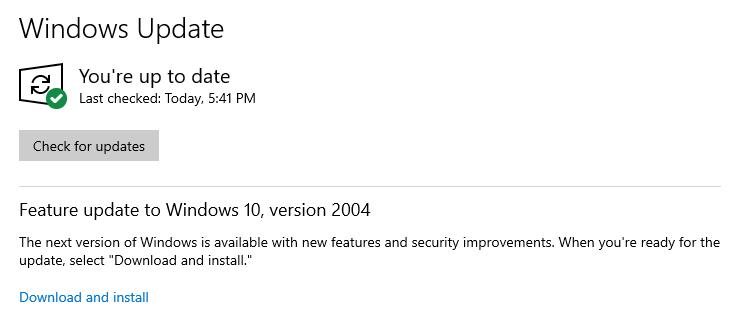 check-windows-update