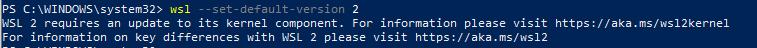 set-wsl2-as default