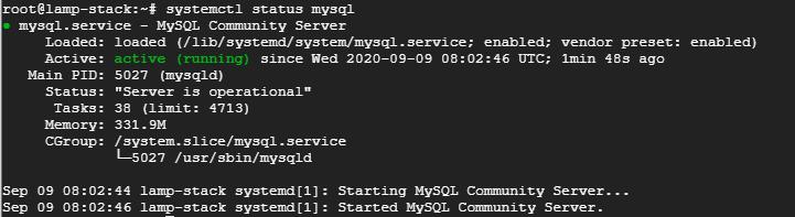 mysql-status-systemctl